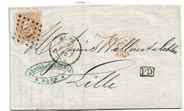 33 Lettre De Gand à Lille   Recto  PD Dc Gand Et Lille  Verso  Dc Gand 18 Fevr. 72 - 1869-1883 Leopold II.