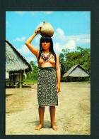 PERU  -  Pucallpa  Shipibo Girl Carrying Water  Unused Postcard - Peru
