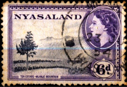 NYASALAND- (MALAWI) -TEA ESTATE IN MLANJE MOUNTAIN-PRE DECIMAL-6d-FINE USED-TP-386 - Malawi (1964-...)