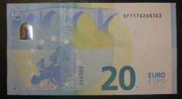 6x 20 EURO S012 SA+SB+SC+SD+SE+SF Draghi Italy Perfect  UNC - EURO
