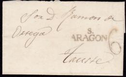 1841 ARAGON. A TAUSTE. ESPAÑA/SPAIN. - ...-1850 Voorfilatelie
