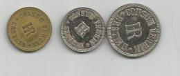 ERSTEIN : CONSUM VEREIN HR : 3 JETONS - Monétaires / De Nécessité
