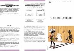 2390  BD  Feuillet De La Poste FDC Rare Lucky Luke 13-10-1990 1000 Bruxelles €10 - Postdokumente