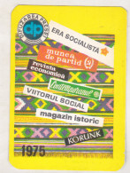 Romania Old 1975 Small Calendar - DP Difuzarea Presei - Calendriers