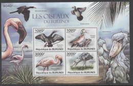 BURUNDI, 2011,BIRDS, FLAMINGOES, STORKS, SHEETLET,MNH,NICE - Flamingo