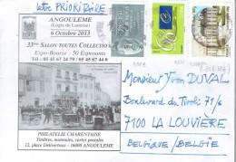 Enveloppe Illustrée Salon Toutes Collections Angoulême Logis De Lunesse Philatélie Charentaise  6/10/2013 - Sonstige