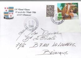 Armoiries De Simencourt Pas-de-Calais Sur Lettre Vers La Belgique Du 15/11/2006 Timbre Le Poulain - Other