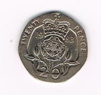 GREAT BRITAIN  20 PENCE   1983 - 20 Pence