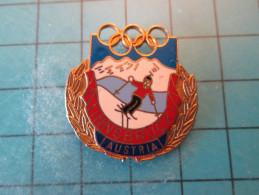 PIN510e Pin´s Pins /    Belle Qualité JEUX OLYMPIQUES INNSBRUCK AUSTRIA 1964   INSCRIPTION AU DOS ,  Voir Photo N°2 - - Giochi Olimpici