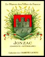 Cigarettes Laurens Blason Des Villes De France Historique Des Armoiries Jonzac 2 Scans - Cigarettes