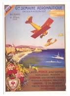 CP Affiche Grande Semaine Aéronautique Nice 1922  Nice à La Belle époque  Reproduction  ACCA - Other