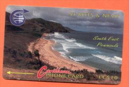 """St. KITTS & NEVIS: STK-3Ba """"South East Peninsula 1"""" CN:3CSK Rare ******Error Code****** (1990) - St. Kitts En Nevis"""