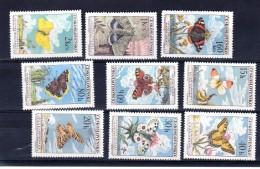 1961 Les Papillons  Y 1184 -1192 ** Mi 1301-1309 ** Complet TTB - Tschechoslowakei/CSSR