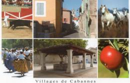 CPSM CABANNES LE Village De Cabannes  MULTIVUES - Otros Municipios