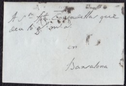 1764 CATALUÑA. SITGES A BARCELONA. ESPAÑA/SPAIN. - ...-1850 Vorphilatelie