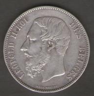 BELGIQUE / BELGIO - 5 FRANCS - LEOPOLD II (1876) - ARGENTO SILVER - 09. 5 Franchi