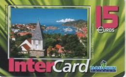 ANTILLES FRANCAISES-INTERCARD DAUPHIN TELECOM 15€-SAINT BARTHELEMY-GUSTAVIA-3000EX - Antilles (French)