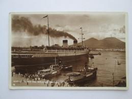 Italy - Napoli IL REX NEL MOLO BEVERELLO , OLD SHIP - Autres