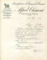 36.INDRE.ARGENTON SUR CREUSE.MANUFACTURE DE CHEMISES D'HOMMES.ALFRED CLEMENT. - Textile & Vestimentaire