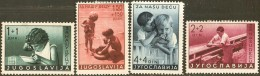 Yugoslavia, 1939 Child Fund Stampsn 4 Values MH Children Playing - Enfance & Jeunesse