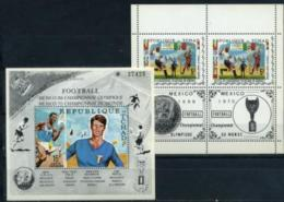 Chad, World Cup 1970, Minisheet+s/s Block - 1970 – Mexique