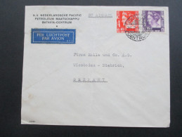 Niederländisch Indien 1938 Luftpost / Per Luchtpost. Airmail. MiF. Nederlandsche Pacific Petroleum Maatschappij - Nederlands-Indië