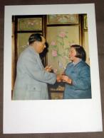 Chine China Mao Tse Tung à Kouei Chi Province De Anhoué - Fiche Héliogravure 1956 , 18X26 Cm - Histoire