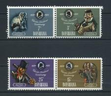 BOTSWANA    1970    Death  Centenary  Of  Charles  Dickens    Set  Of  4    MNH - Botswana (1966-...)