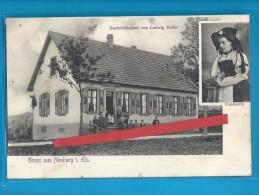 C.P.A. Gruss Aus  Neuburg In Elsace - Gastwirthschaft Von Ludwig Keller - Other Municipalities