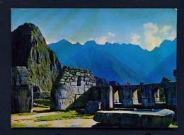 PERU  -  Macchu Picchu  Temple Of The Three Windows  Unused Postcard - Peru