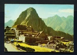 PERU  -  Macchu Picchu  Used Postcard (some Light Creasing) - Peru