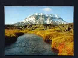 ICELAND  -  Heroubreio Mountain  Used Postcard - Iceland