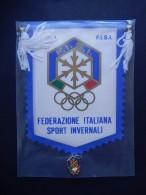 Gagliardetto + Distintivo F.I.S.I. - Federazione Italiana Sport Invernali - Sport Invernali