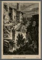 DOUANE - DOUANIERS - Gravure De VAUTIER Issue D'une Revue De 1877 Et Collée Sur Feuillet - Vieux Papiers