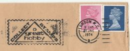 1974 London  GB COVER SLOGAN Pmk COLLECT STAMPS A GREAT HOBBY Philately - Filatelia & Monete