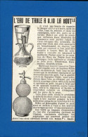 EAU DE SELTZ - Publicité Issue D´une Revue De 1909 Et Collée Sur Feuillet - Publicités