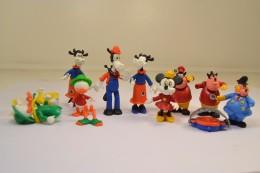 Lot Figurines Kinder Dessin Animé Mickey Picsou Donald, Années 1980 - Dessins Animés