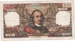 100 FRANCS-CORNEILLE-J.4-2-1965.J-ETAT MOYEN- - 1962-1997 ''Francs''