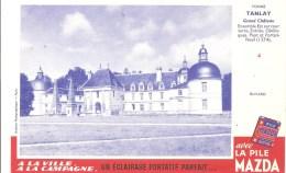 Buvard Pile Mazda Série Les Châteaux N°4 Tanlay - Electricité & Gaz