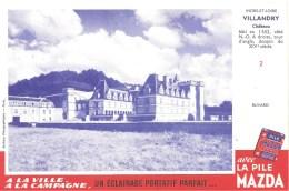Buvard Pile Mazda Série Les Châteaux N°2 VILLANDRY - Electricité & Gaz