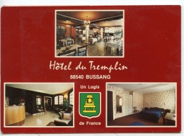 Bussang Hotel Restaurant Du Tremplin (j. Gabriel & Enfants) CP Double Générale Façade Salle à Manger Salon Bar Chambre - Bussang