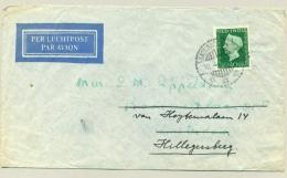 Nederlands Indië - 1949 - 40 Cent Wilhelmina Type Hartz - Enkelfrankering Op LP-brief Naar Nederland - Nederlands-Indië