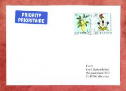 Brief, MiF Blumen, Steyr Nach Muenchen 2007 (30785) - 1945-.... 2a Repubblica