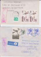 Pologne, Lot De 5 Lettres Ayant Circulé, Censurées, OCENZUROWANO, 1981 (pol/18) - Poland