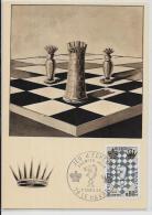 CPSM Jeu échecs Chess Circulé 10 X 15 - Chess
