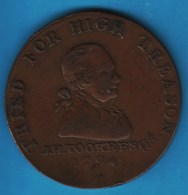 Middlesex Political And Social Series  1794 HALFPENNY John Horne Tooke Treason Acquittal DH-1045 - Professionals/Firms