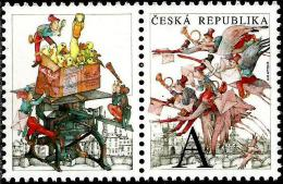 Czech Republic - 2015 - The Flying Post Office - Mint Stamp With Personalized Coupon - Ungebraucht