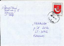 Lithuania Cover Kaunas 12-3-2003 Single Franked - Lithuania