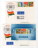 FDC  - ESPACE - GHANA - 1967 - CONQUETE LUNAIRE - FDC & Commemorrativi