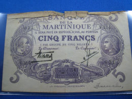 MARTINIQUE - 5f NOTE - G - Banknotes